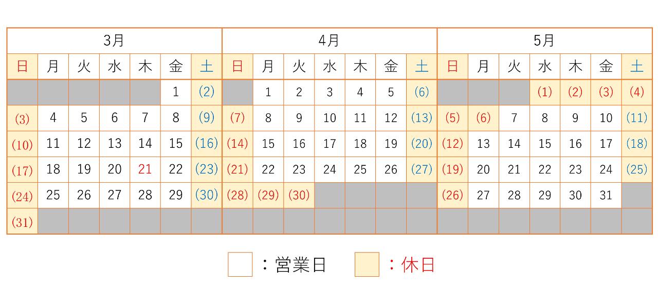 201903-201905カレンダー